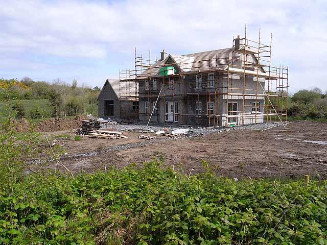 House under construction near Greagh Crossroads