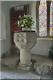 SW8441 : The Font. Old Kea Church by Fred James