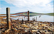 HY3713 : Gate on the causeway by Ian Balcombe