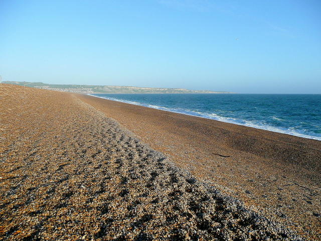 Chesil Beach, looking towards Portland