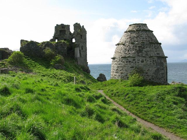Dunure Castle and Dovecot