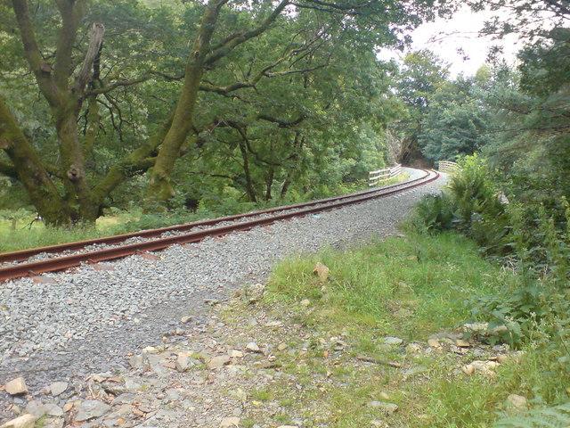 The Welsh Highland Railway near Nantmor