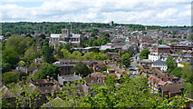 SU4829 : Winchester From St.Giles's Hill by Peter Trimming