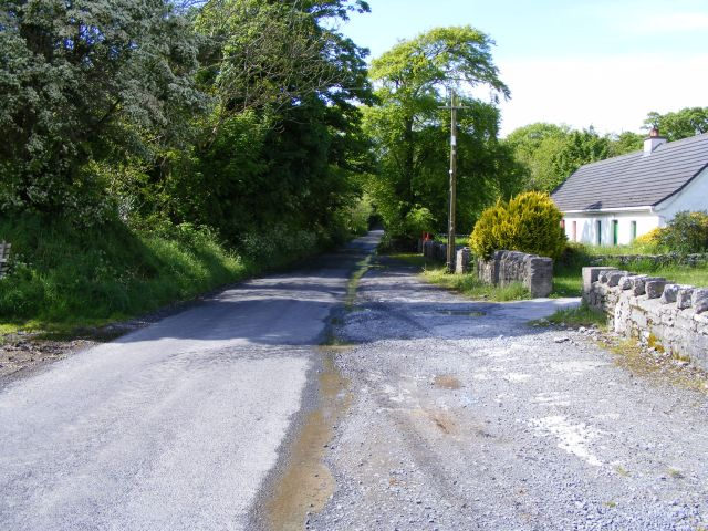 Road to Ballinderreen from Owenbristy, Cloghballymore Townland