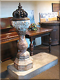 TQ3379 : Font in St Mary's church, Bermondsey by Stephen Craven
