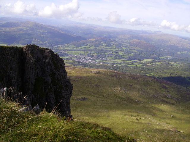 Dolgellau from Mynydd Moel