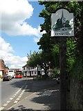TQ5465 : Eynsford Village Sign by David Anstiss