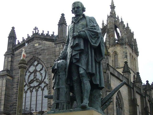 Adam Smith statue, High Street