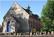 SO7845 : Christchurch Hall, Barnards Green Road, Malvern by Bob Embleton