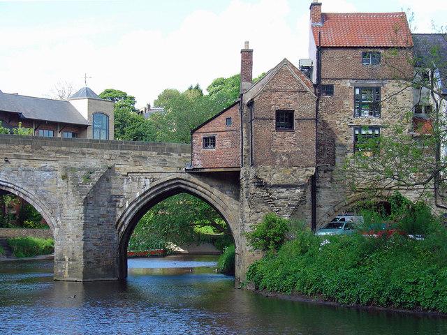 SE corner of Old Elvet Bridge, Durham