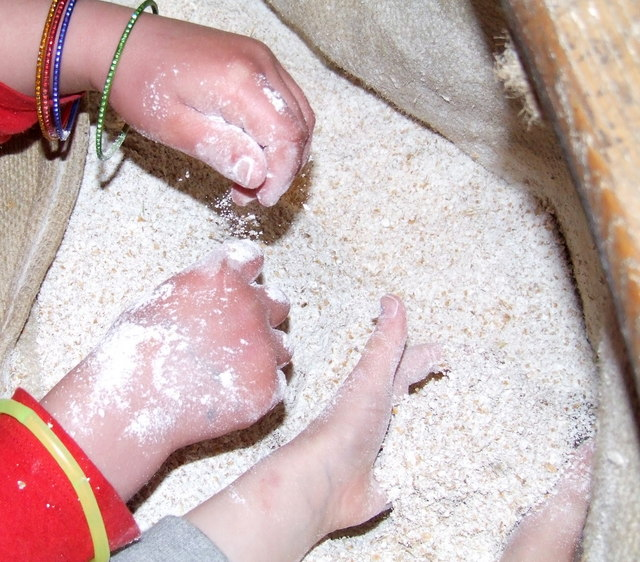 Hands in the flour