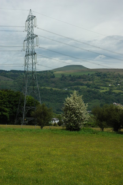 Sugar Loaf viewed from near Govilon