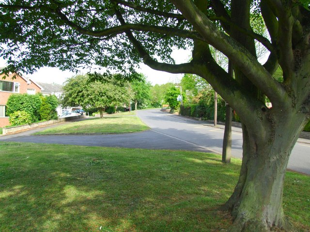 Looking up Padleys Lane from near the school entrance