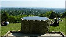 TQ2652 : Reigate Hill Viewpoint by Peter Trimming