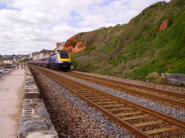 First Great Western along the Dawlish Sea Wall