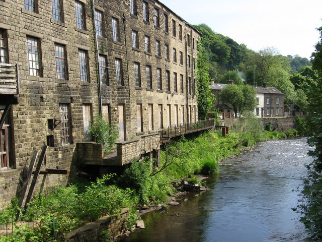 Mytholmroyd - Clog Mills and River Calder