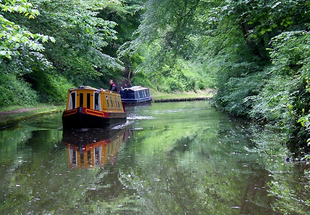The Shropshire Union Canal north of Norbury, Staffordshire