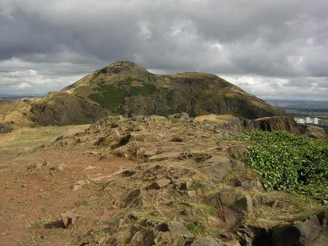 The top of Salisbury Crags looking to Arthur's Seat