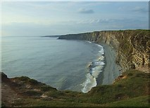 SS9168 : Late Evening View from Nash Point Cliff by Kev Griffin