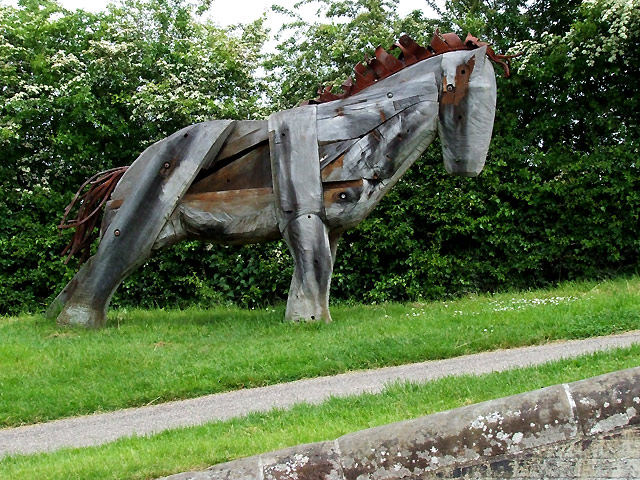 Canalside Horse Sculpture, by Nantwich Basin, Cheshire