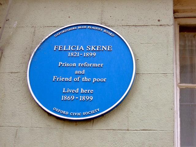 Photo of Felicia Skene blue plaque