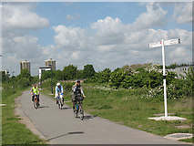 TQ3783 : The Greenway at Stratford Marsh by Stephen Craven
