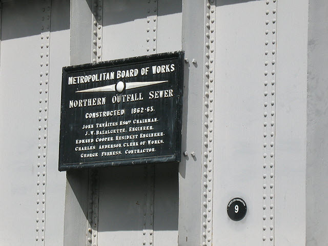 Northern Outfall Sewer - commemorative plaque