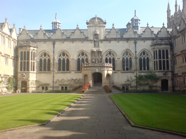 The hall at Oriel College, Oxford