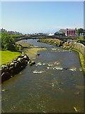 SN4562 : Afon Aeron yn rhedeg o dan bont bren / River Aeron running under wooden bridge by G Williams