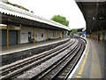 TQ2481 : Westbourne Park Station - Looking West by Peter Whatley