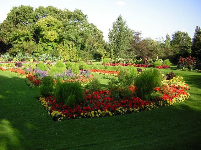 Floral display in Victoria Park