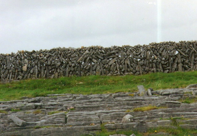 Drystone walling on Inishmore