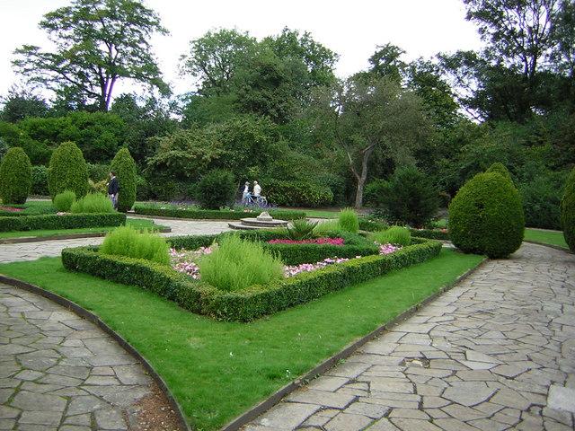 In the Flower Garden at Victoria Park