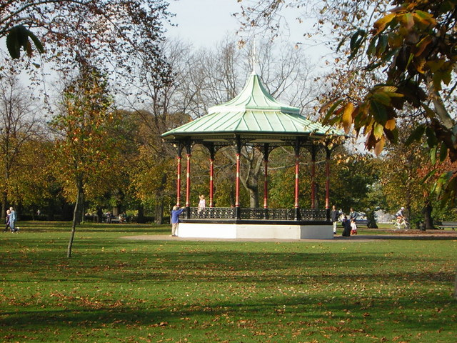 The bandstand in Greenwich Park