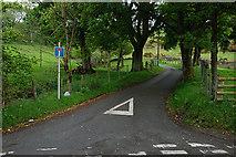 SH9233 : Minor road heading for Cefnddwygraig by Nigel Brown
