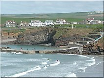 SS2006 : The seawater swimming pool, Bude by Humphrey Bolton
