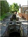 SK6380 : Osberton canal lock on the Chesterfield Canal by Steve  Fareham
