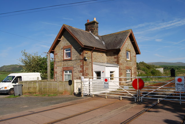 House by the level crossing near Saltcoats