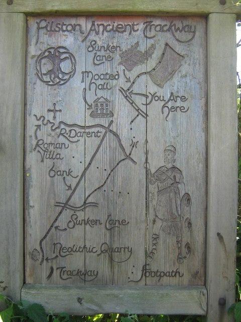 Filston Ancient Trackway Information Board