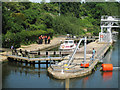 TQ7353 : East Farleigh Lock, River Medway by Oast House Archive