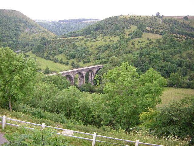 Monsal Dale Viaduct from Monsal Head