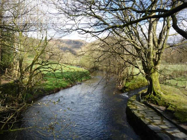 Looking upstream on the Rothay