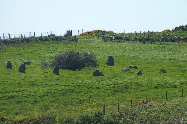 A small stone circle
