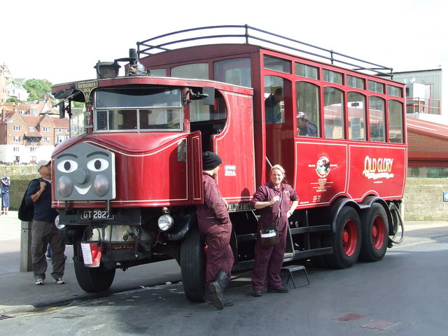 Steam bus and its crew