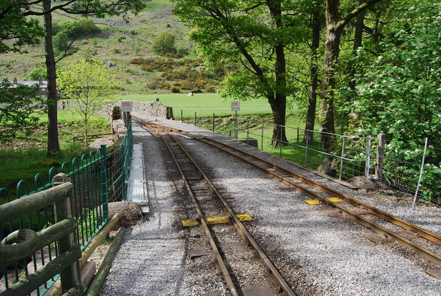 The Ravenglass & Eskdale Railway crosses Whillan Beck
