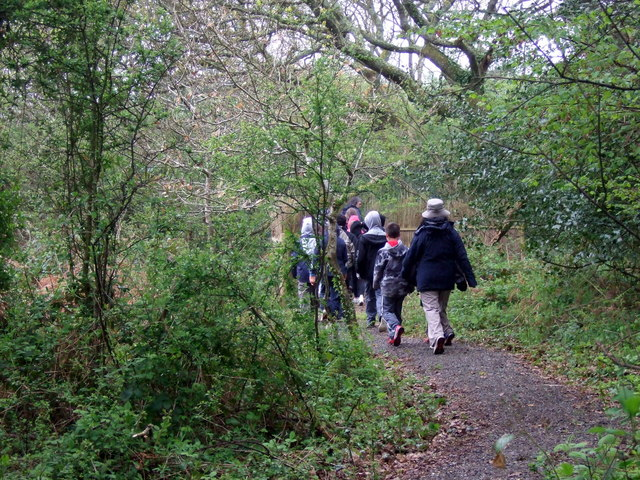 School trip to the nature reserve