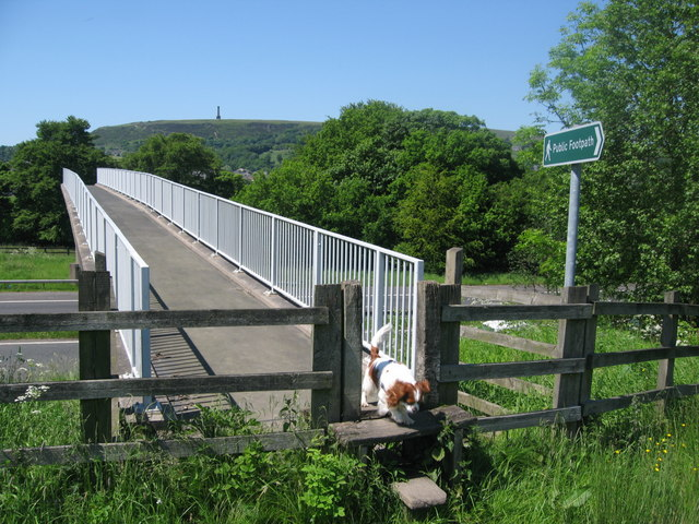 Footbridge over the M66