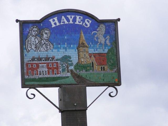 Hayes Village Sign