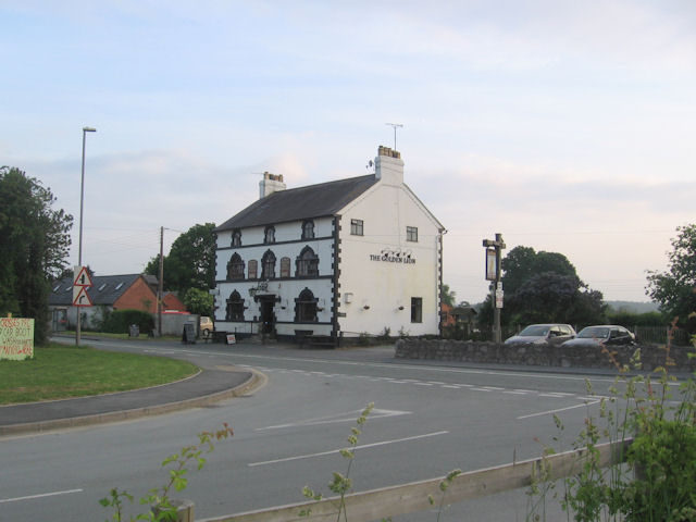 The Golden Lion at Four Crosses