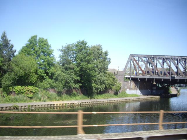 Main line railway bridge over the River Nene